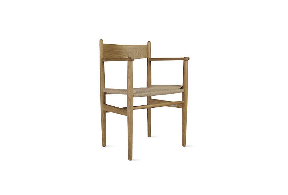 TheHans Wegner CH37 Armchair in oiled oak is $loading=