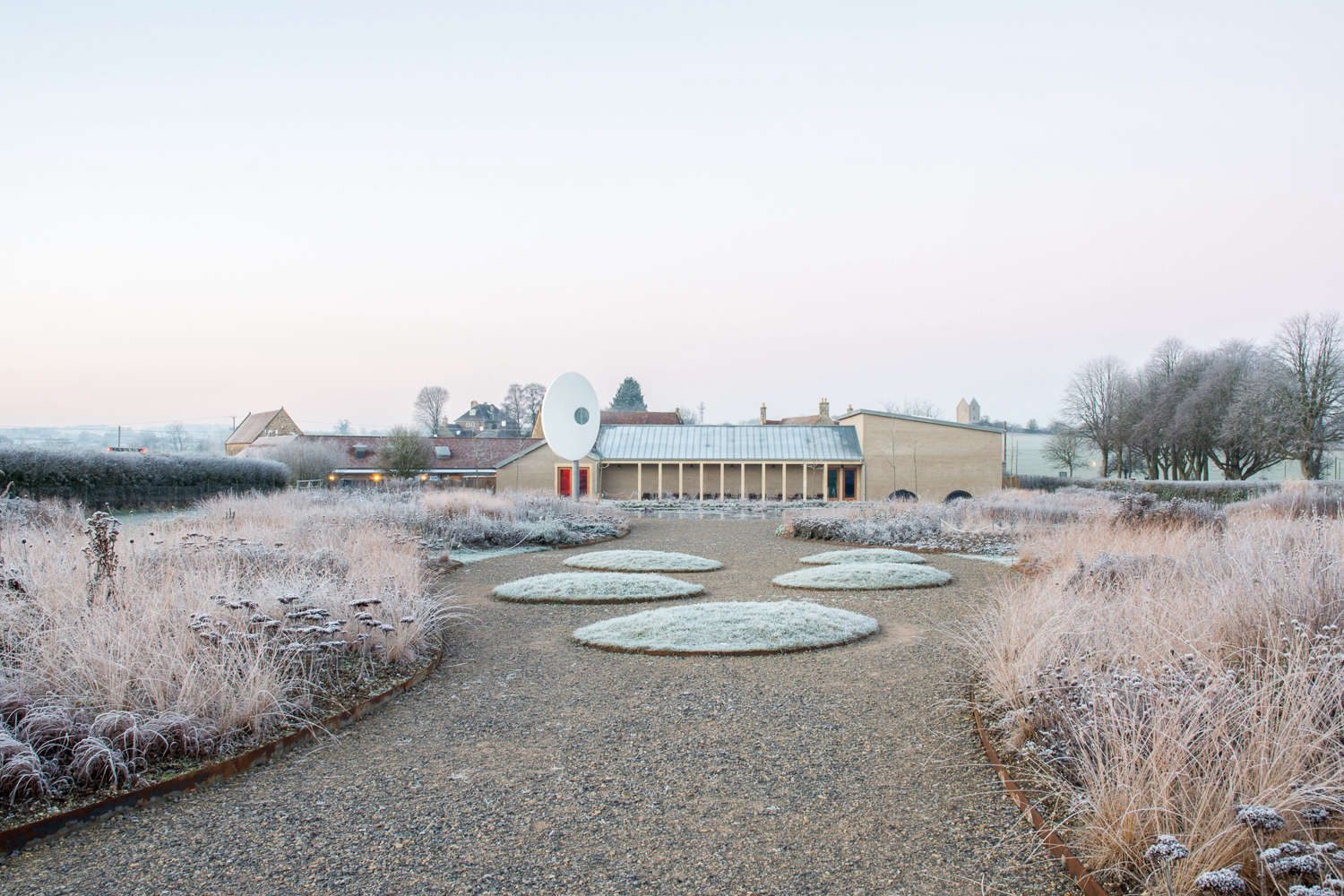 oudolf field at hauser and wirth somerset in winter 11