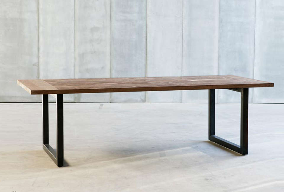 Made of laminated reclaimed oak and a metal frame, the Tube Table is from Belgian company Heerenhuis. For more tables, see our post Design Sleuth: 6 Favorite Farmhouse Tables.