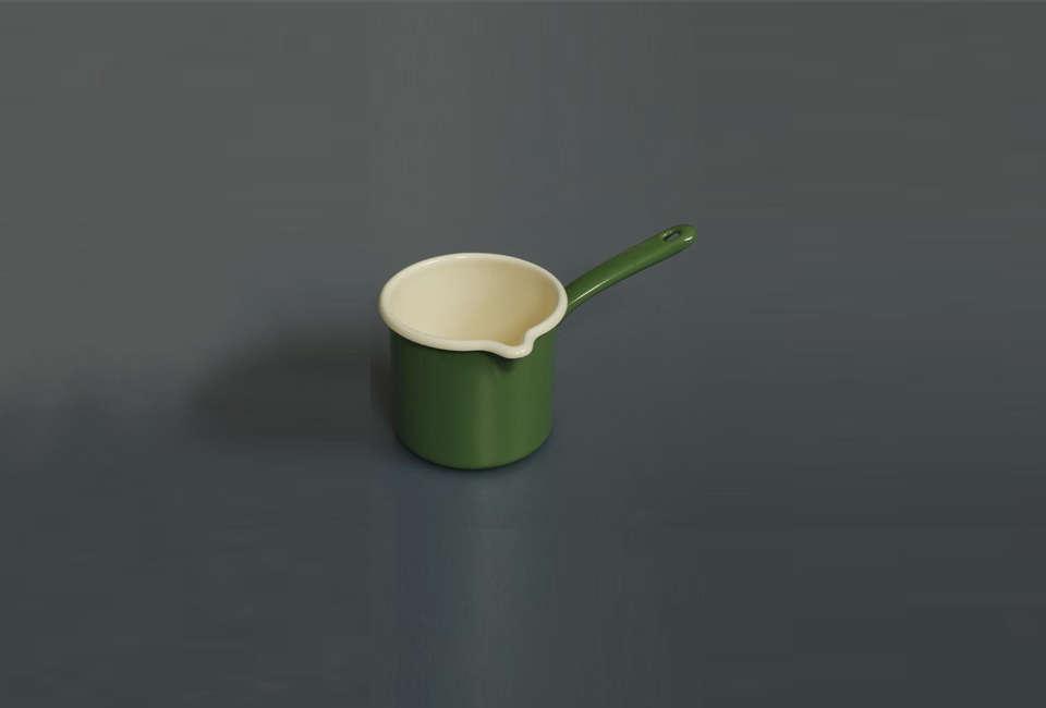 labour and wait enamel milk pot reiss in green 13
