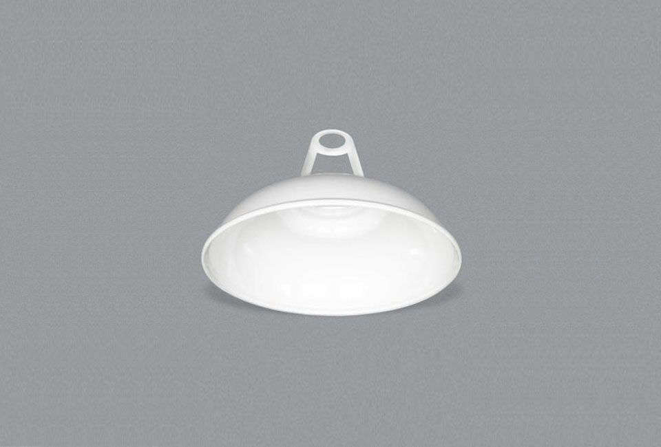 TheReiss White Enamel Lampshade is £48 ($60 USD) at Labour & Wait.