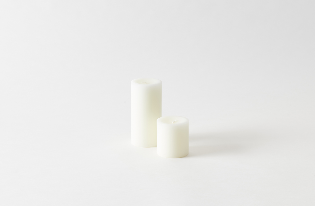 Hand-Poured White Pillar Candles are $ for the large size at March. Alternatively, West Elm&#8