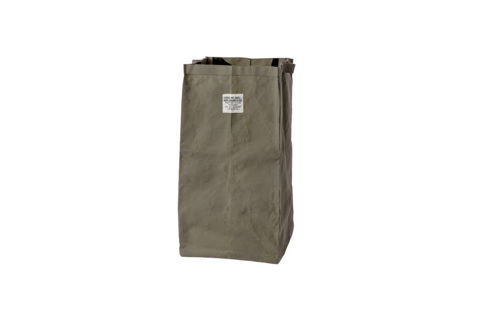 ThePuebco Large Laminated Fabric Organizer in olive green is 4,536 JPY at Puebco.
