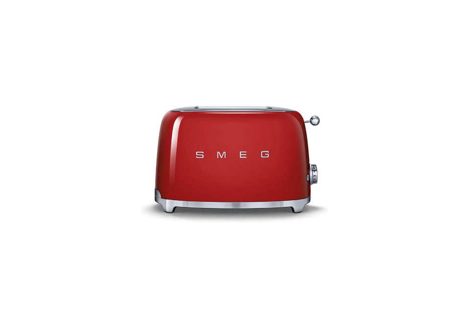 smeg retro 2 slice toaster in red 18