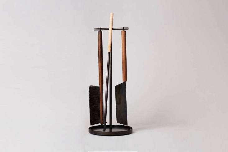 the shovel&#8\2\17;s long walnut handle evokes a japanese chef knife. the 13