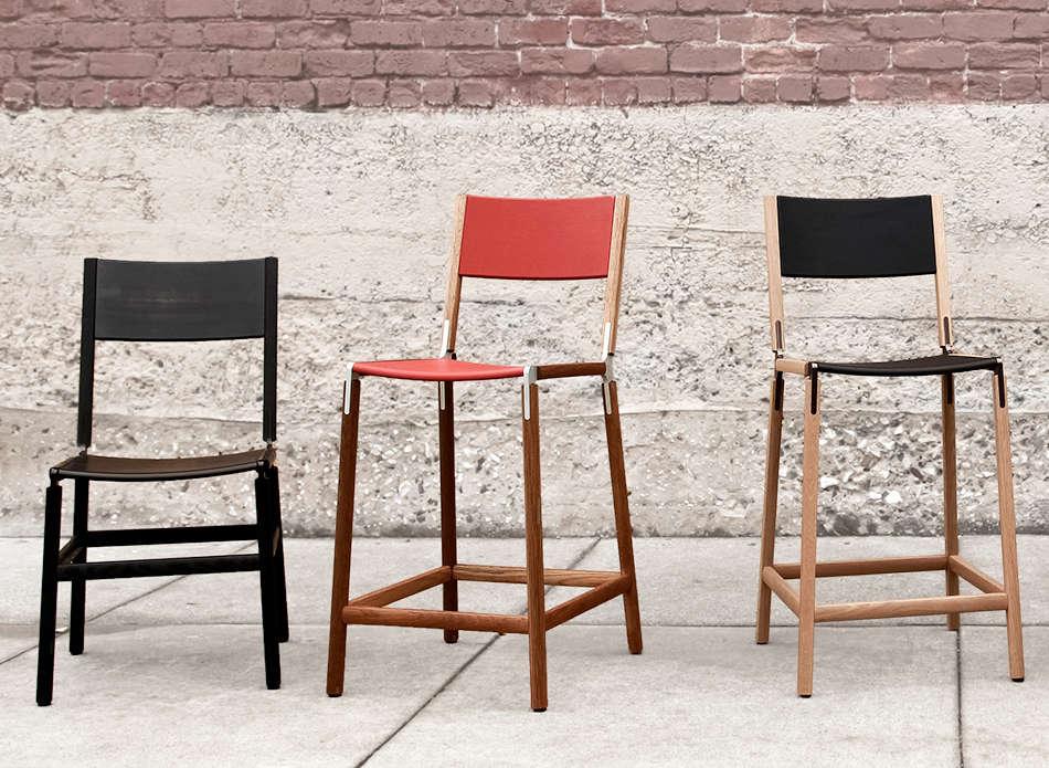 three-modern-black-red-wood-flat-pack-chairs