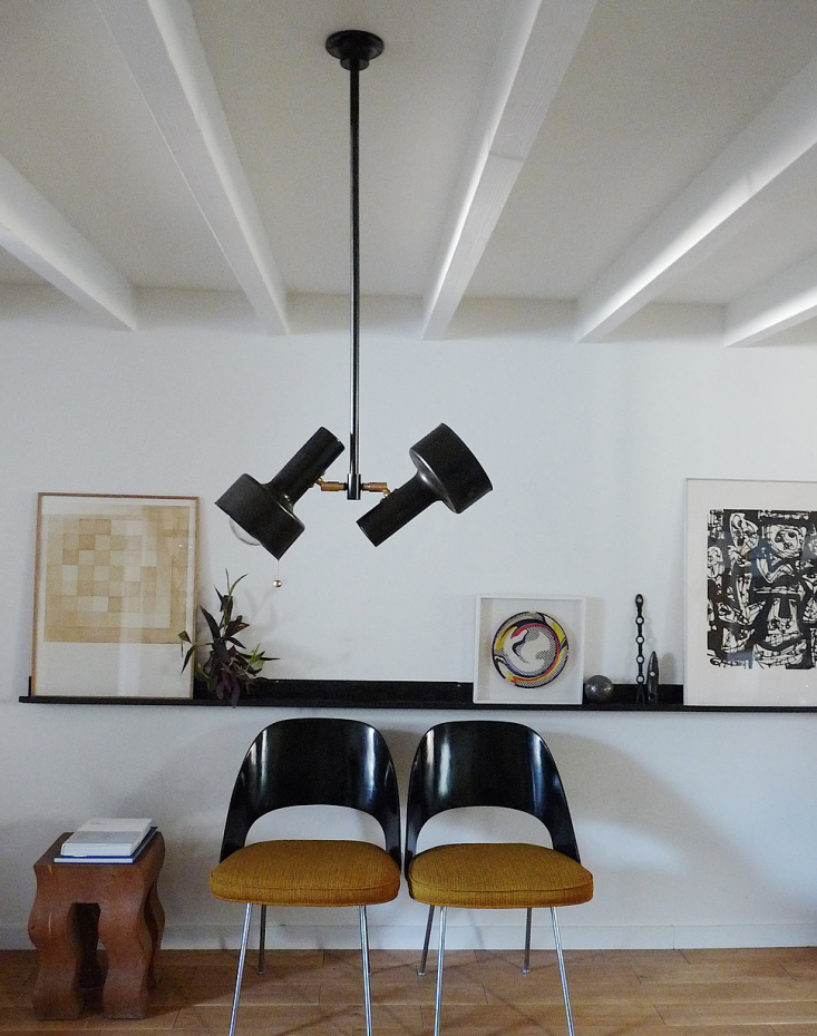 The Auguste Two Lights Ceiling fixture, shown here with a cylinder shade, is €549($583).