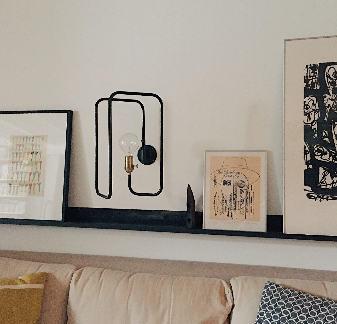 The shadeless Clip Sconce comes with an Edison Filament bulb; €379 ($40
