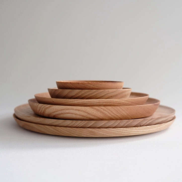 turned ash plates come in five sizes; starting at £35 (\$4\2.67). 12