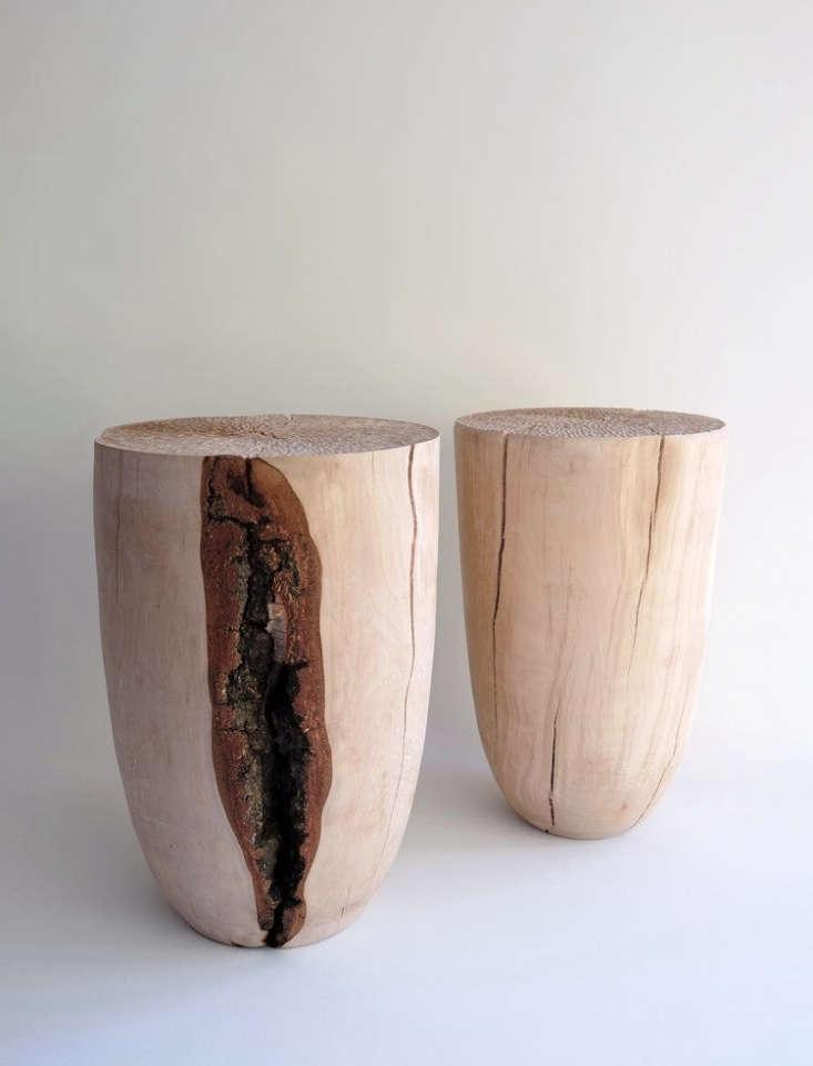 split birch stools witha solid, wabi sabi grace. 13