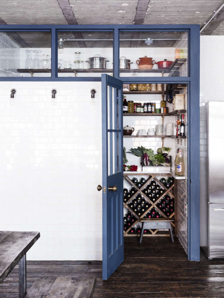 one of the nicest elements in the loft is the tiledpantry, which doubles as a 12
