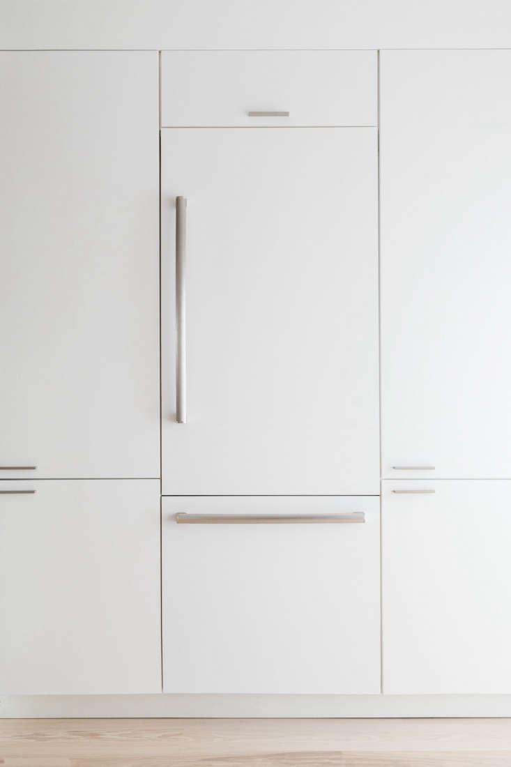 a bosch panel ready refrigerator and freezer allowed greenawalt to customize a  16