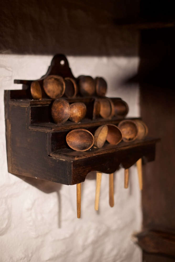 another collection of wall mounted cawl spoons. 15