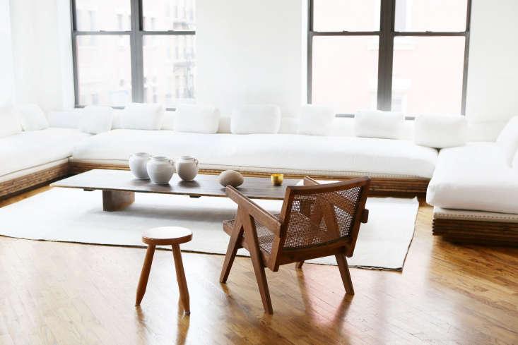 APierre Jeanneret teak and cane armchair from Cornelsen&#8