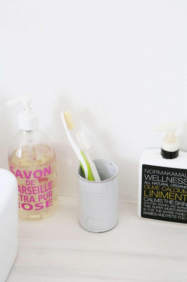 Wellness essentials next to the sink. &#8
