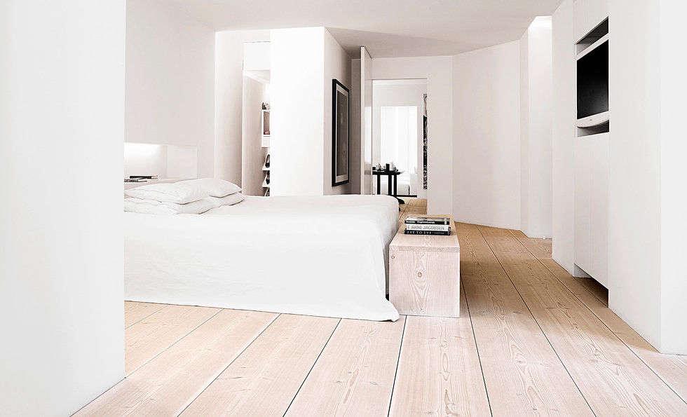 Dinesenmeets radiant heat flooring. Photograph via Dinesen.