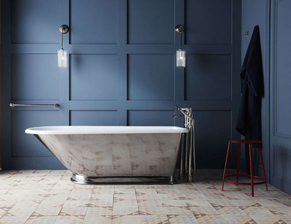 10 Easy Pieces Silver Finish Freestanding Bathtubs TheWandle Bathtub by Martin Brudnizki for Drummonds comes with a polished exterior. Contact Drummonds for pricing.