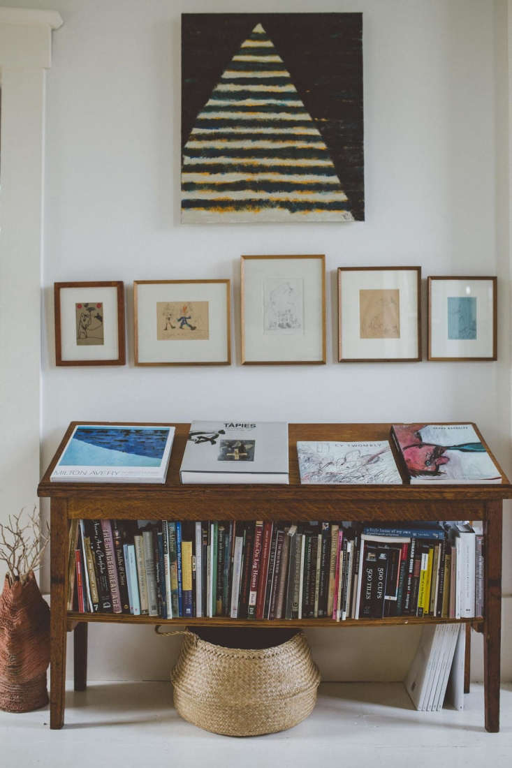 Trend Alert 11 PeriodicalStyle Shelves for Design Book Lovers Art books on a freestanding shelf mirror the hanging artwork in photographer Erin Little&#8\2\17;s home in a converted church. Photograph courtesy of Erin Little.