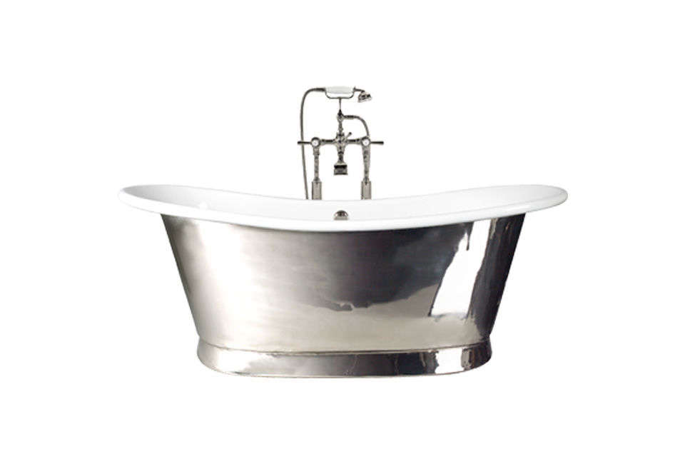 10 Easy Pieces Silver Finish Freestanding Bathtubs The Babylon Polished Nickel Bathtub comes with either an enamel or polished nickel interior; prices start at £6,\250 (\$7,605) from Fired Earth.