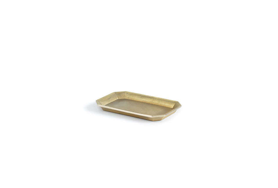 The Oji Masanori Futagami Brass Stationary Tray is $56 for the medium size at Nalata Nalata. Michelle uses the tray in the kitchen to corral scrub brushes and dish soap by the sink.