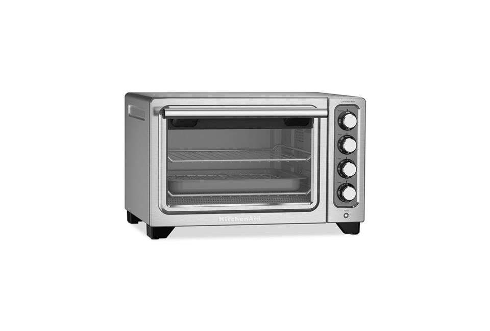 the kitchenaid compact toaster oven can bake, broil, toast, warm, and slow roas 18