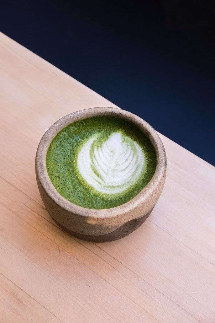 a matcha latte in one of aciar&#8\2\17;s cups. 14