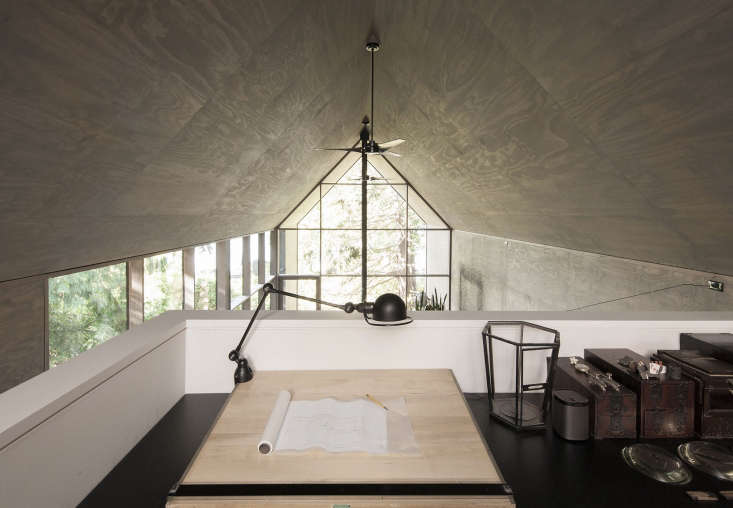 lofted office space seattle modern house plywood ceilings