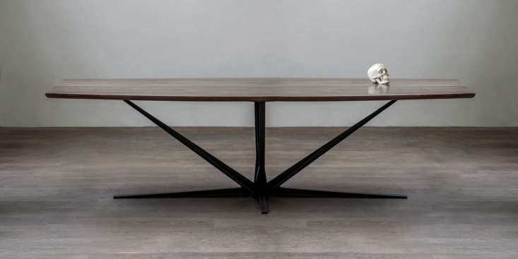 luteca&#8\2\17;s agave dining table features a tapered walnut top perched o 11
