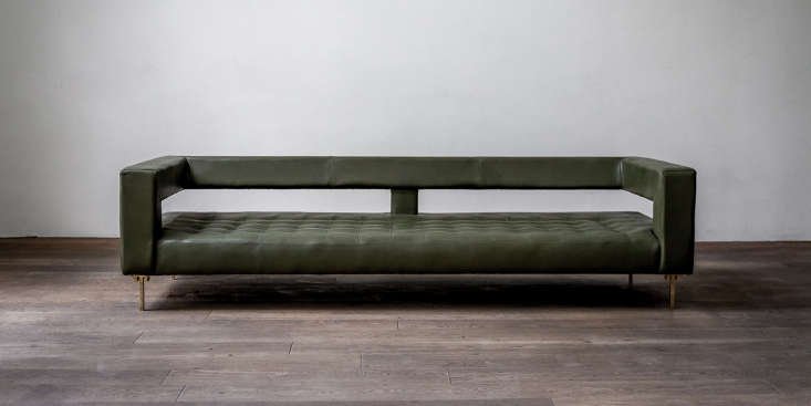 thanks to its open back and delicate legs, air sofa appears to float in space,  9