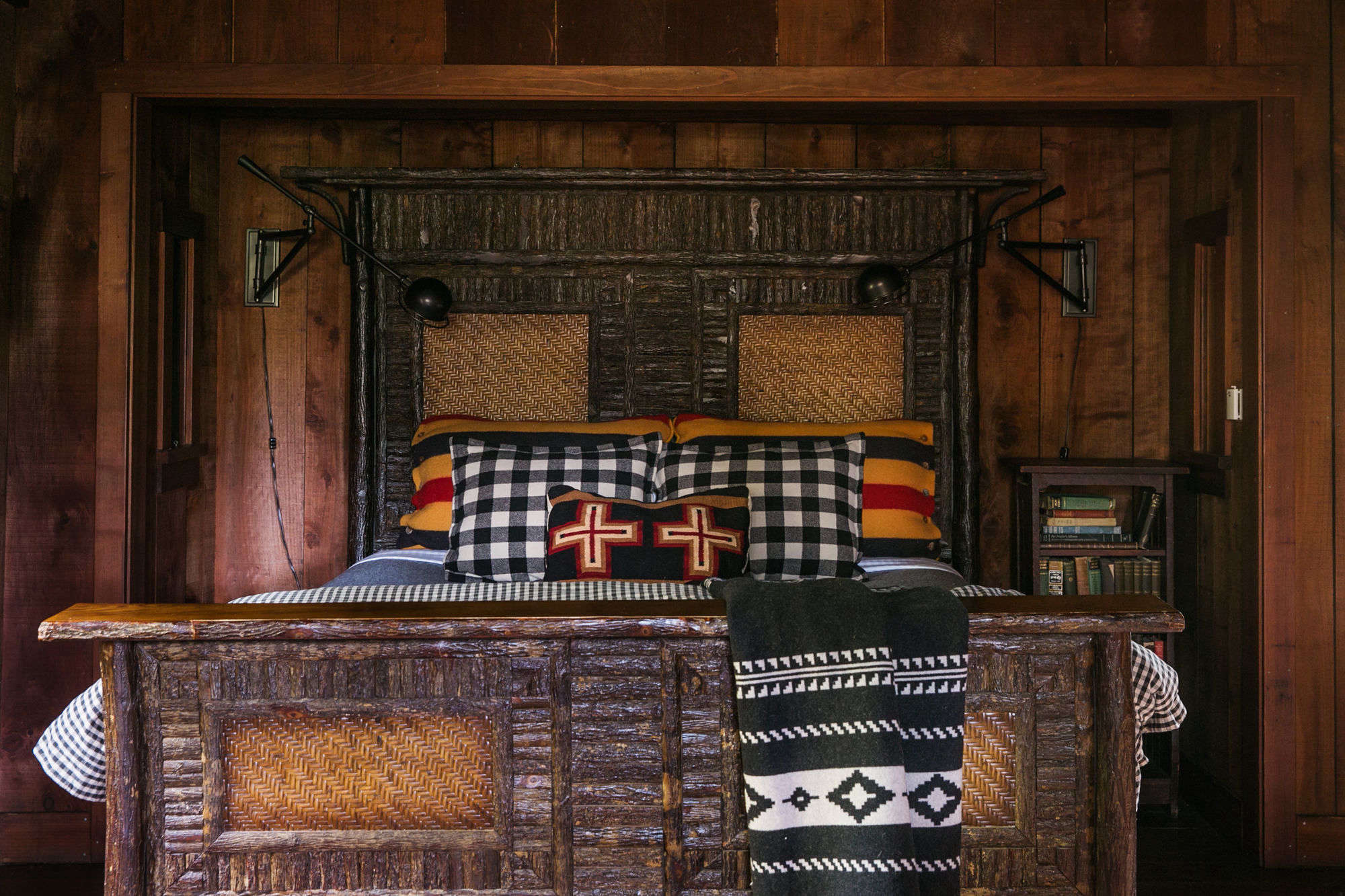 layers of flannel make up the large bed. 23