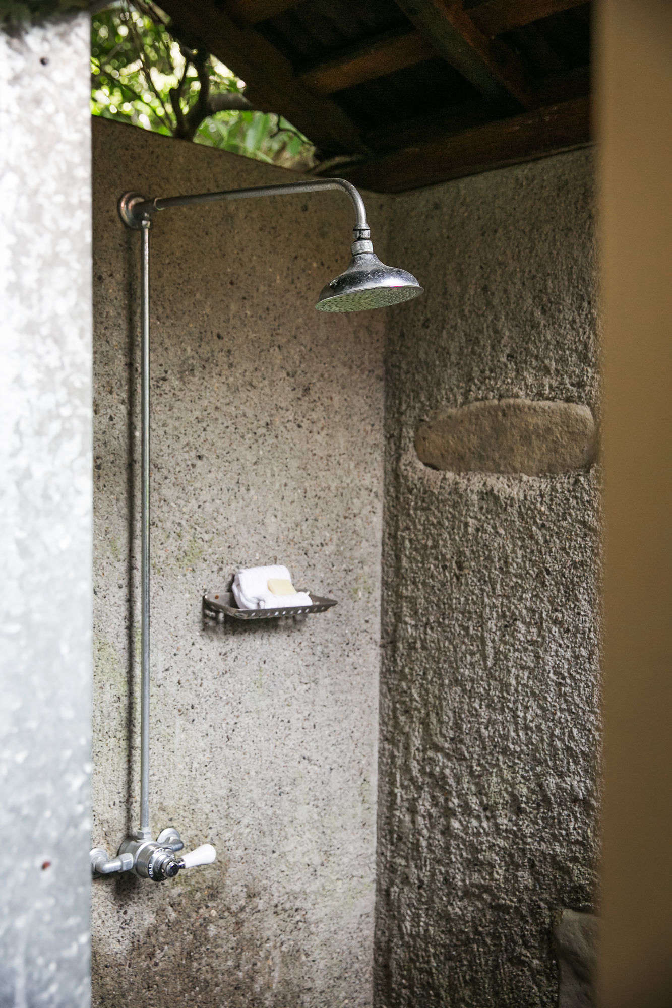 the outdoor shower atmanka&#8\2\17;s cabin. 20