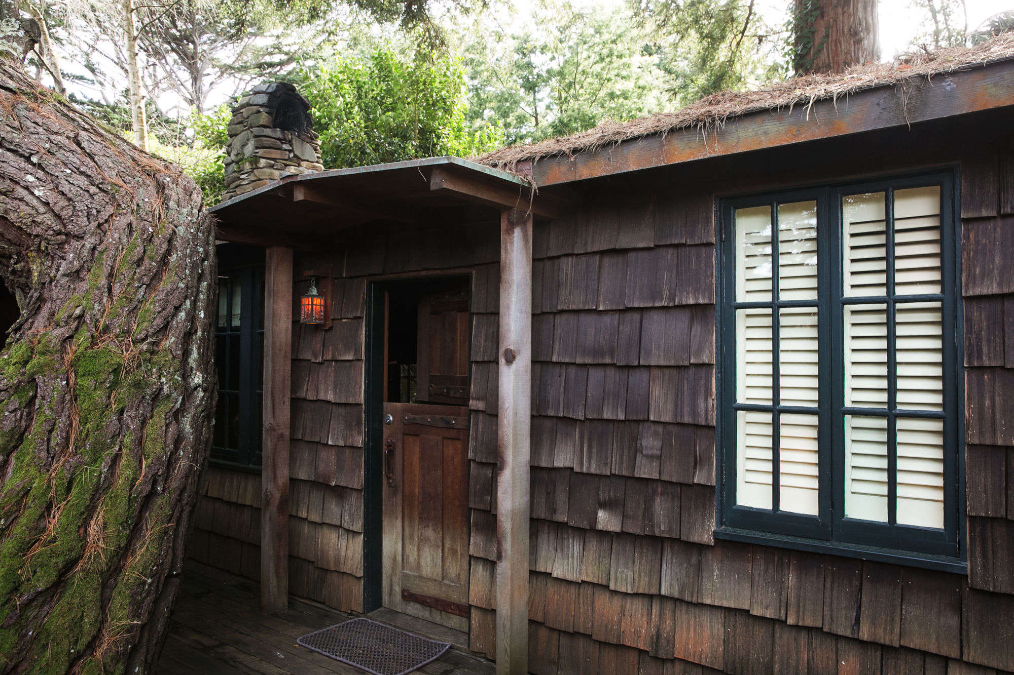 entrance into the \1900s fishing cabin. 21