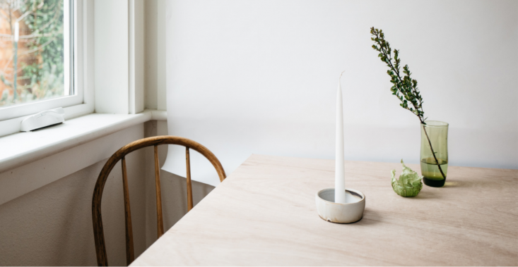 Justine has been admiring the new spring line from Portland, Oregon–based Notary Ceramics (a favorite Remodelista Market vendor), including these simple but stately candleholders.