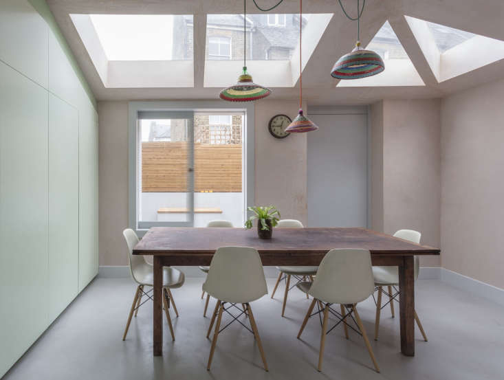 Pale pink was selected for the walls during the course of construction: &#8