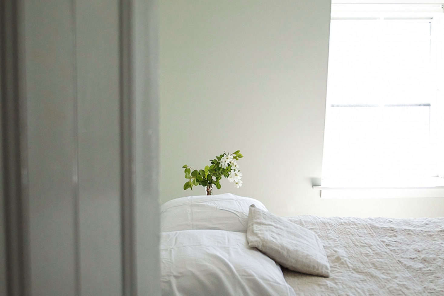 The summer bedroom, breeze included. Photograph by Justine Hand.