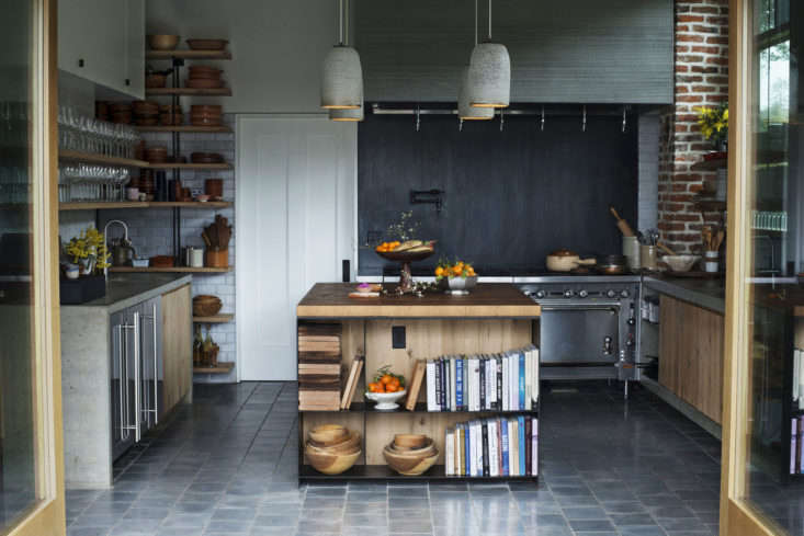 A blackened steel backsplash fromKitchen of the Week: A Hacienda Kitchen in Sonoma's Hippest Winery.