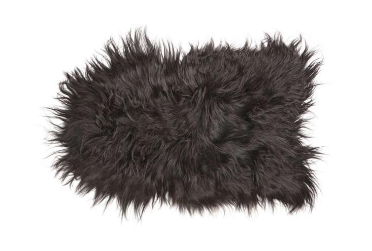 for a wilder aesthetic, consider theisland sheepskin in black. 15