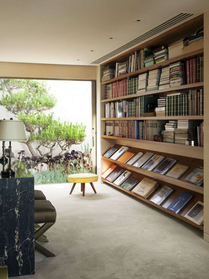 Trend Alert 11 PeriodicalStyle Shelves for Design Book Lovers In the Beverly Hills home of fashion photographer Steven Meisel, low, wide display shelves hold favorite design books. Photograph by Roger Davies, courtesy ofArchitectural Digest.