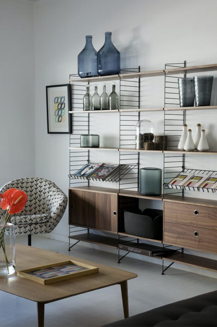 Trend Alert 11 PeriodicalStyle Shelves for Design Book Lovers TheString Unit Bookshelf from South Africa–based shop Mezzanine is an airier wire version of traditional wood shelving systems.