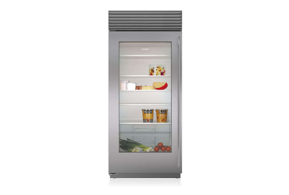 Also from Sub-Zero, the smaller 36-Inch Glass Door Refrigerator ranges from $8,0 to $8,