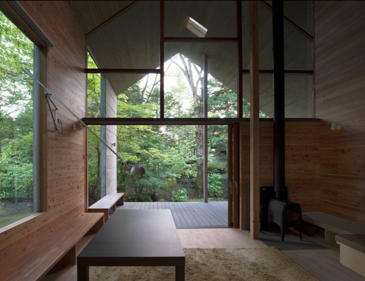 admiring the lines of the omizubata n house in karuizawa, japan, spotted in t,  9