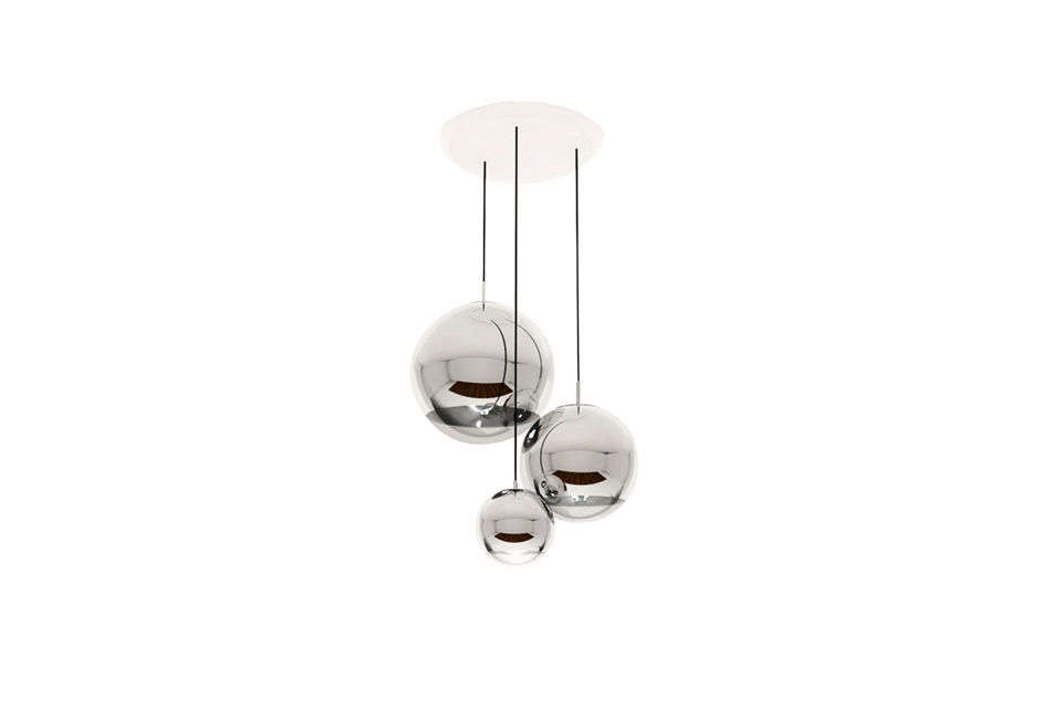 The Tom Dixon Mirror Ball Multipoint Pendant is $