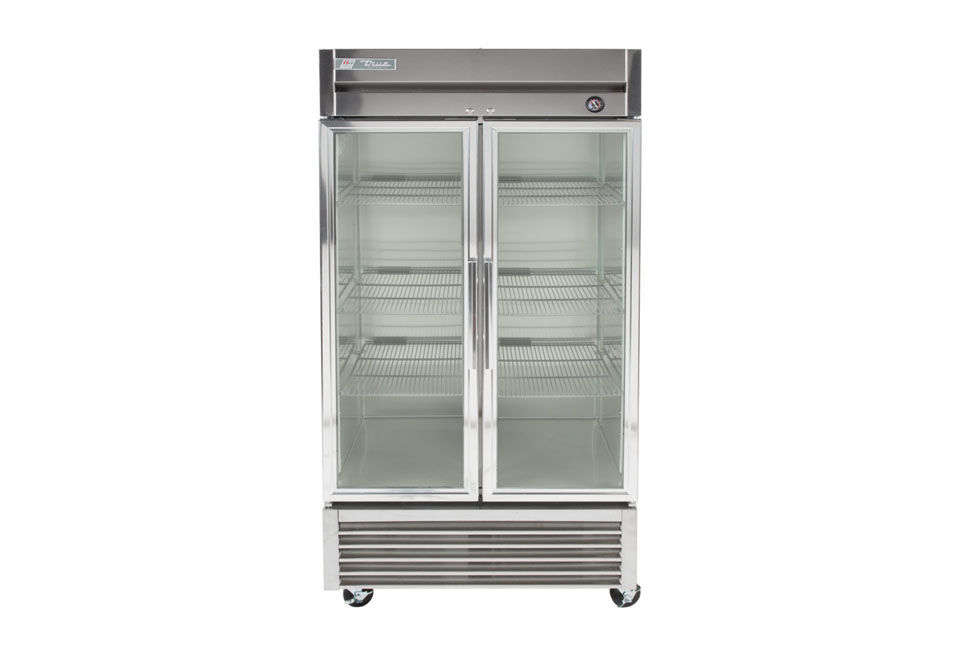 The True 40-Inch Two-Glass Door Reach-in Refrigerator with LED Lighting is available at Webstaurant Store. Note that this model is only zoned for commercial use and cannot be used in residential kitchens.
