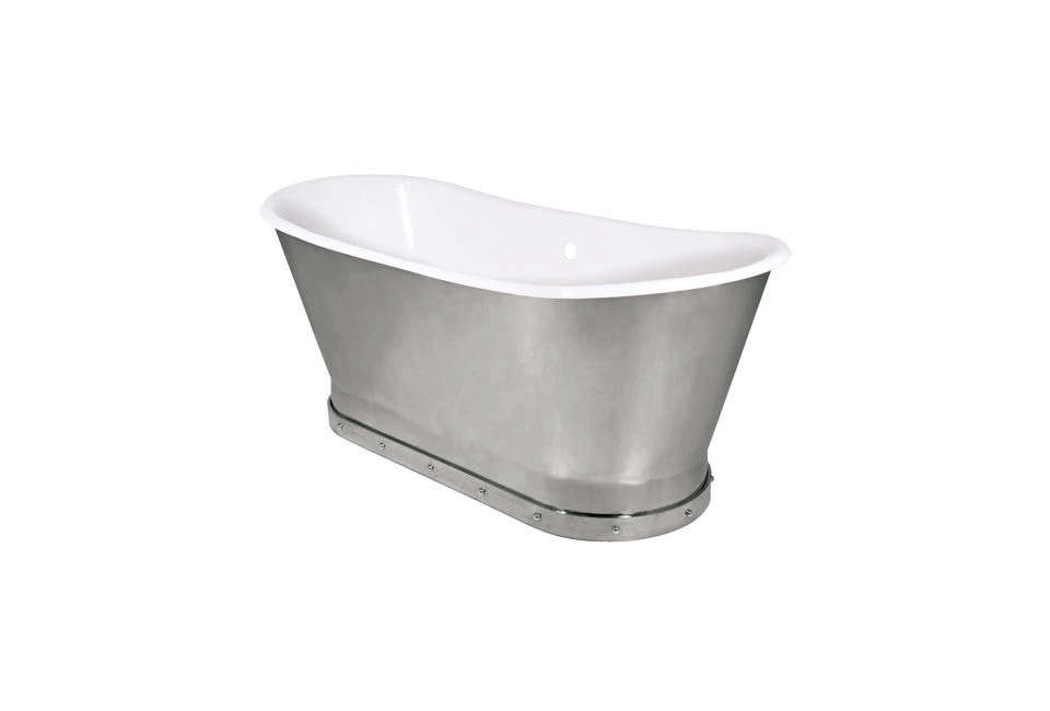 10 Easy Pieces Silver Finish Freestanding Bathtubs TheMercer Bathtub comes in satin nickel (shown here), polished nickel, light pewter, and polished brass. Contact Urban Archaeology for pricing. The same style is also available withFront Rivets at Urban Archaeology.