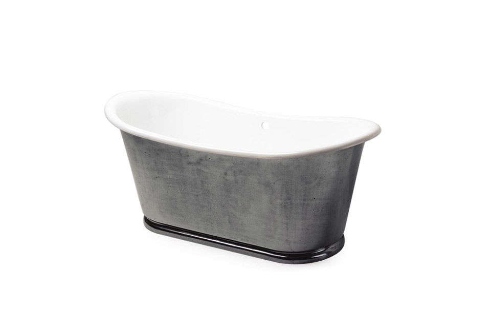 10 Easy Pieces Silver Finish Freestanding Bathtubs The Candide 65 Inch Freestanding Oval Cast Iron Bathtub is another burnished cast iron bath from Waterworks. Contact the company for pricing.