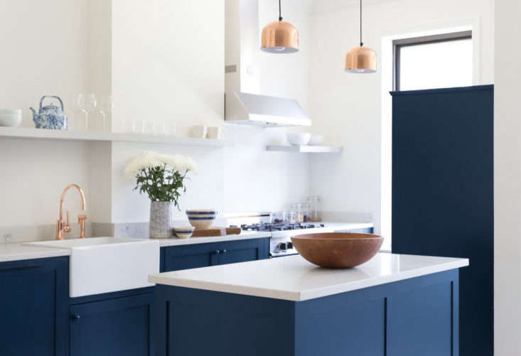 Design firm White Arrow created a budget kitchen for Buzzfeed editor Peggy Wang in her Ridgewood, Queens, New York, remodel with Ikea cabinets and custom fronts by Scherr&#8