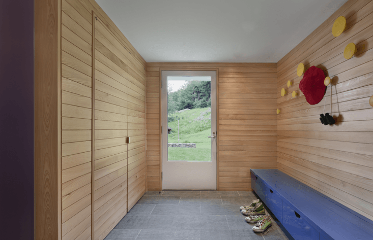 In this th-century farmhouse in Connecticut, O'Neill Rose Architects used cypress shiplap siding to create a contemporary mudroom that is still very much in keeping with the rest of the historic home. (See The Architect Is In: Porch Appreciation in Connecticut.) Photograph by Michael Moran.