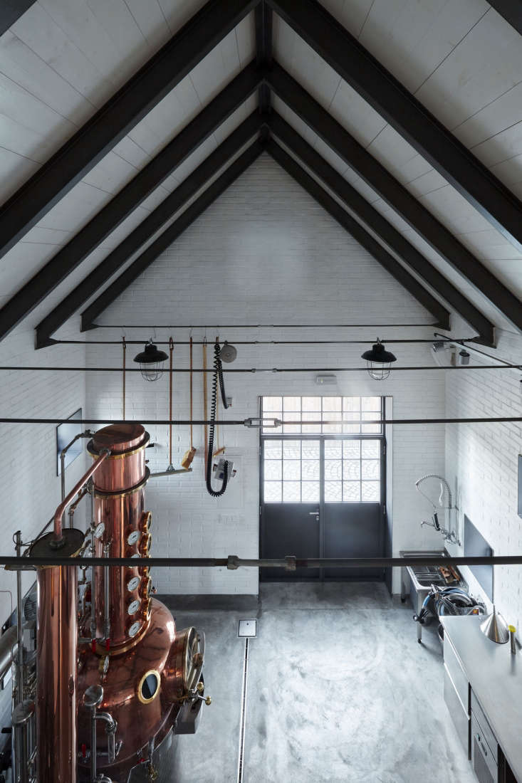 with black beams and a concrete floor, the distillery itself is utilitarian.  12