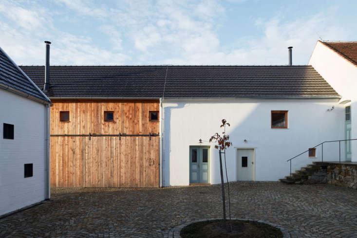 a series of farm buildings in the south bohemian region of the czech republic w 25