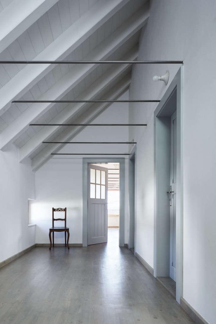 a soft pastel palette in a hallway. 17